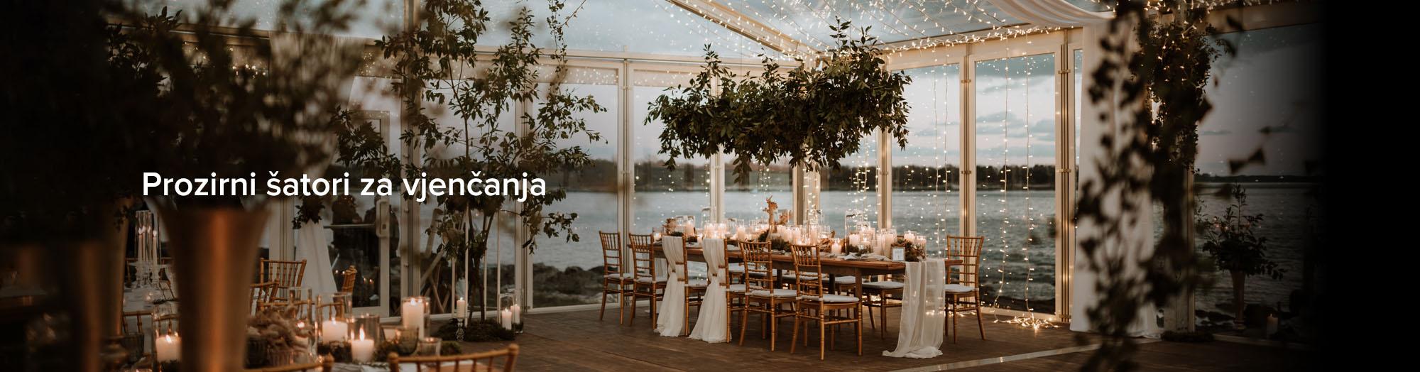Prozirni šatori za vjenčanja